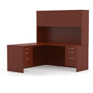 Mayline Aberdeen Executive L-Shaped Desk Work Station Cherry - AT32-LCR
