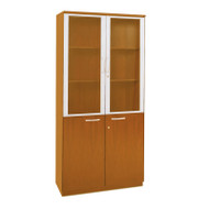 Mayline Napoli or Corsica Veneer High Wall Cabinet with Doors Golden Cherry - VHC-GCH