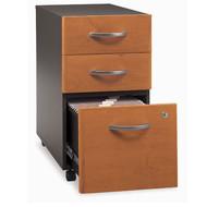 BBF Bush Series C Mobile File Cabinet 3-Drawer Natural Cherry Assembled - WC72453SU