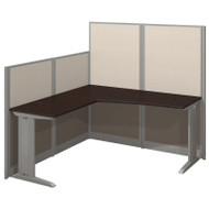 BBF Bush Office-in-an-Hour L Shaped Desk Workstation with Panels Mocha - WC36894-03K