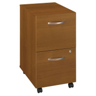 BBF Bush Series C Mobile File Cabinet 2-Drawer Warm Oak - WC67552