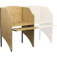 Flash Furniture Starter Study Carrel in Oak Finish - MT-M6201-OAK-GG