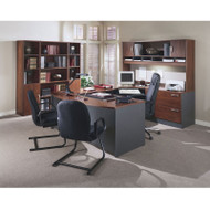 BBF Bush Series C Package Executive U-Shaped Bowfront Desk Hansen Cherry - HCPackageC