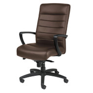 Eurotech by Raynor Manchester High-Back Brown Leather Chair - LE150-BRN