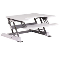 "Flash Furniture HERCULES Sit to Stand Desktop Riser 28.25""W White - JE-JN-LD02-S-W-GG"