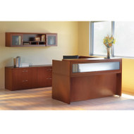 Mayline Aberdeen Reception Desk L-Shaped Package Cherry - AT37-LCR