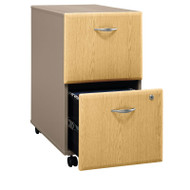 BBF Bush Series A 2-Drawer Mobile File Cabinet in Light Oak Assembled - WC64352PSU