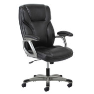 MONTHLY SPECIAL! OFM Essentials by OFM High Back SofThread Leather Task Chair, Black - ESS-6030-BLK