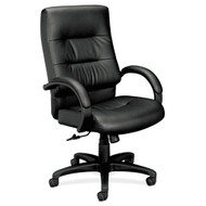 Basyx Black Leather Executive High-Back Chair - VL691SP11