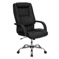Flash Furniture High Back Black Leather Executive Office Chair - BT-9130-BK-GG