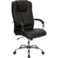 Flash Furniture High Back Brown Leather Executive Office Chair - BT-9080-BRN-GG