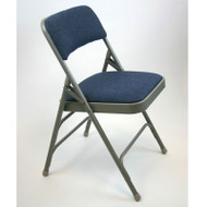 Metal Folding Chair (Set of 4) with Fabric Seat and Back - ACT3000AF