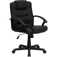 Flash Furniture High Back Black Leather Executive Office Chair GO-937M-BK-LEA-GG