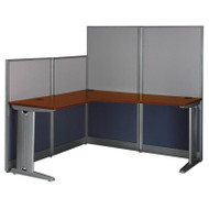 MONTHLY SPECIAL! Bush Furniture Office-in-an-Hour L Shaped Desk Workstation with Panels - WC36494-03K