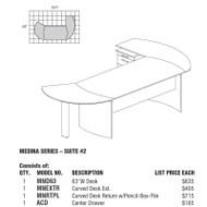 Mayline Medina Laminate Executive Package 2 Gray Steel - MNT2-LGS