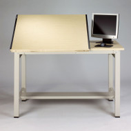"""Mayline Ranger Steel Split-Top Drawing Table with Tool Drawer 60"""" - 7772A"""