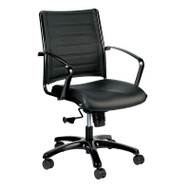Eurotech by Raynor Europa Leather Mid-Back Chair - LE222TNM