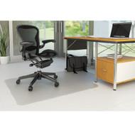 "Deflect-o Duramat Hard Floor Non-Studded Chairmat Lipped 45"" x 53"" - CM2E230"