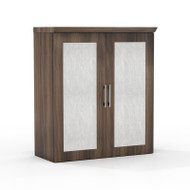 * MONTHLY SPECIAL! Mayline Sterling Series Storage Cabinet with Acrylic Doors 36W x 16.5D x 41.5H Textured Brown Sugar - STSCAD-TBS