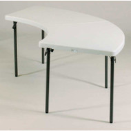 Correll FS-Series Blow-Molded Plastic Banquet Folding Table Serpentine (Pack of 2) - FS3096S-2