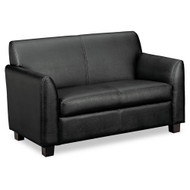 Basyx by HON Tailored Leather Reception Two-Cushion Loveseat - VL872ST11