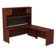 BBF Bush Series C Package Executive L-Shaped Desk Right Mahogany - SRC002MAR