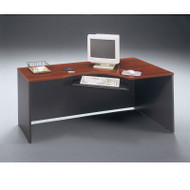 "BBF Bush Series C Corner Desk in Hansen Cherry 72""W Right - W24423"