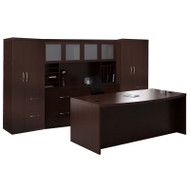 * MONTHLY SPECIAL! Mayline Aberdeen Executive Desk Package Mocha - AT9
