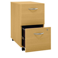 BBF Bush Series C Mobile File Cabinet 2-Drawer Light Oak - WC60352