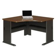 "Bush Business Furniture Series A Corner Desk in Sienna Walnut 48""W - WC25566"