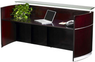 Mayline Napoli Veneer Reception Station Desk Mahogany - NRS