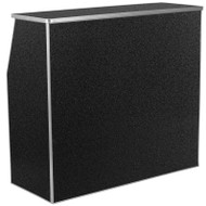 Flash Furniture Foldable Bar / Reception Desk 4' Black Speckled Laminate - XA-BAR-48-MAR-GG