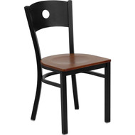Flash Furniture Circle Back Metal Restaurant Chair with Cherry Woodl Seat - XU-DG-60119-CIR-CHYW-GG