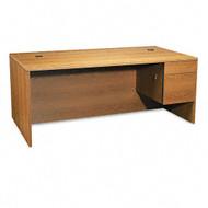 "HON 10500 Series Single 3/4 Pedestal Desk 72"" Right, Assembled - 10585RCC"