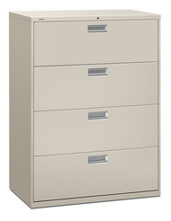 "HON 600 Series 42"" 4-Drawer Metal Lateral File Cabinet - 694L"