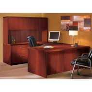 """* MONTHLY SPECIAL! Mayline Aberdeen Executive U-Shaped Desk 72"""" w/Wood Door Hutch Cherry - AT2-LCR"""