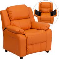 Flash Furniture Kid's Recliner with Storage Orange Vinyl - BT-7985-KID-ORANGE-GG