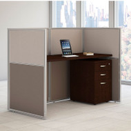 "BBF Bush Easy Office Straight Desk 60"" Closed with Mobile File Cabinet - EOD260SMR-03K"