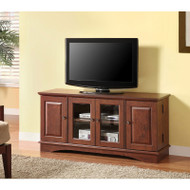 "Walker Edison Wasatch 52"" TV Console, Brown  - WQ52C4DRTB"