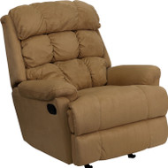 Flash Furniture Contemporary Beige Microfiber Rocker Recliner - BT-70016-MIC-BGE-GG