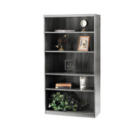 * MONTHLY SPECIAL! Mayline Aberdeen Bookcase 5-Shelf Gray Steel - AB5S36-LGS