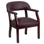 Flash Furniture Burgundy Top Grain Leather Conference Chair - B-Z105-LF19-GG
