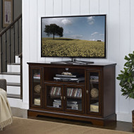 "Walker Edison Highboy 52"" TV Console, Rustic Brown - W52C32RB"