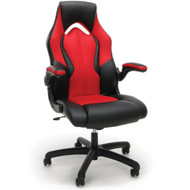 MONTHLY SPECIAL! OFM Essentials Racing Style Leather Gaming Chair Red - ESS-3086-RED