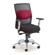 """OFM """"AirFlo"""" Series Executive Task Chair with Silver Accents - 651"""
