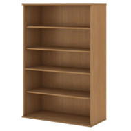 "BBF Bush Bookcase 66""H 5-Shelf Modern Cherry - BK6636MC"