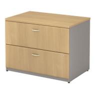 """BBF Bush Series A Lateral File Cabinet in Light Oak 36""""W Assembled - WC64354PSU"""