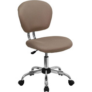 Flash Furniture Mid-Back Coffee Brown Mesh Task Chair with Chrome Base - H-2376-F-COF-GG