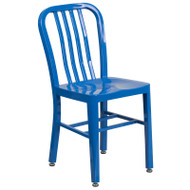 Flash Furniture Blue Metal Indoor-Outdoor Chair (2-Pack) - CH-61200-18-BL-GG