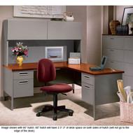 HON Metro Classic Series L Shaped Desk Package - METROPackageC